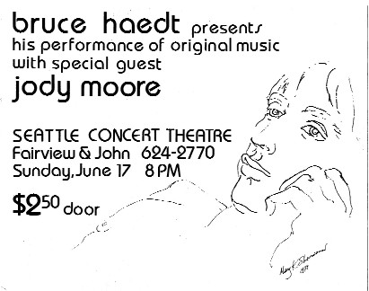 Poster by Mary K. Sherwood, 1979 concert